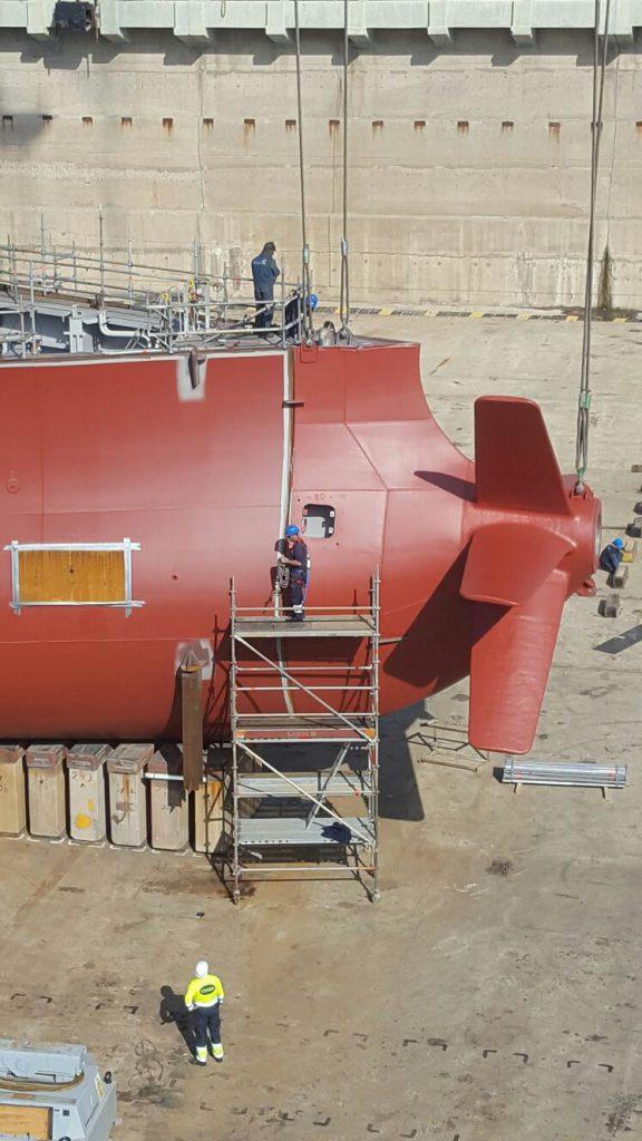 Bloque 110 de la construcción 540 Suezmax NAVANTIA Puerto Real (1)