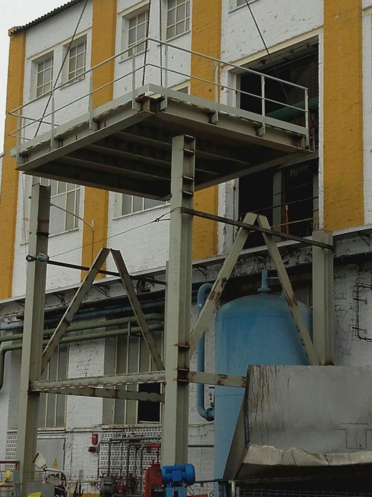 Colocación de voladizo en Azucarera Guadalete (1)